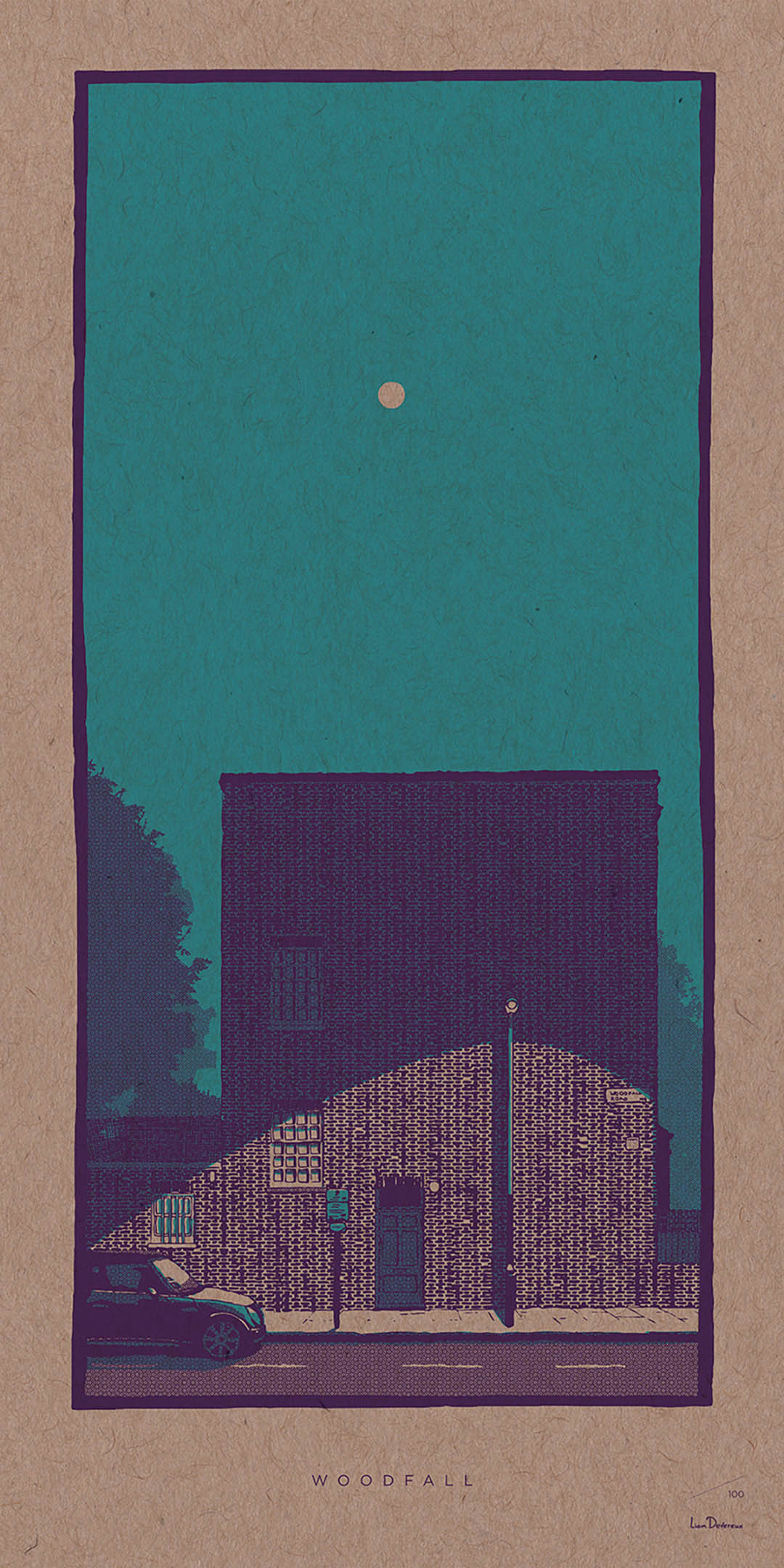 Woodfall - Liam Devereux | 30x60mm Giclee print on 450mic recycled Kraft card